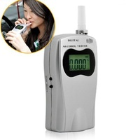 Digital Breath Alcohol Tester 5 Mouthpieces Breathalyzer With LCD Screen Professional Alcohol Detector Powered By USB Charger