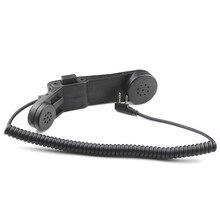 Walkie Talkie Handphone K Plug Hand Mic Z TAC Element H250 PTT Communication Station Handle Microphone For Kenwood Baofeng