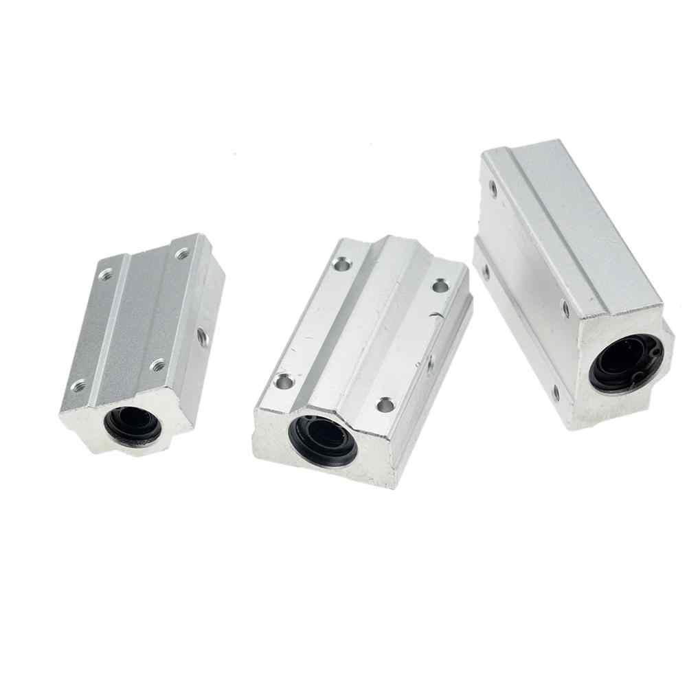4 adet/grup SC8UU SCS8UU SCS6UU SCS10UU SCS12UU SCS8LUU SCS10LUU SCS16UU 8mm lineer rulman blok CNC Router 3D yazıcı parçaları