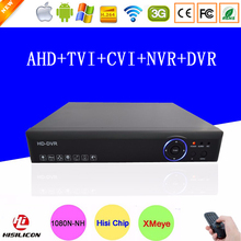 Blue-Ray Hi3521A Chip Surveillance Video Record 16 Channel 16CH 1080P/960P/720P 5 in 1 Hybrid CVI TVi NVR AHD DVR Free shipping