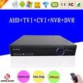 Blue-Ray Hi3521A Chip de Gravação de Vídeo Vigilância 16 Canais em tempo real 16CH 1080 P/960 P/720 P 5 em 1 Híbrido NVR CVI TVi AHD DVR Livre grátis