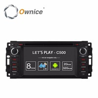 Ownice C500 Android 6.0 Quad Core car dvd player for Jeep grand wrangler 2015 patriot compass journey gps navi radio 4G LTE SIM