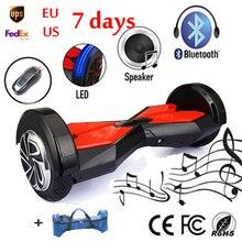 2 Колеса Самостоятельная Баланс Электрические Скутеры 8 дюймов Hoverboard с Bluetooth и СВЕТОДИОДНЫЕ Фонари и Ключ Воздуха Небо Ходок Доска Hooverboard(China (Mainland))