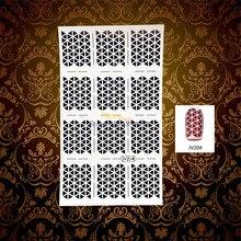 1 Sheet Charm Women Nail Foil Vinyl DIY Image Triangle Gem Hollow Pattern Nail Art Stencil Sticker HWJV204 Manicure Polish Paint