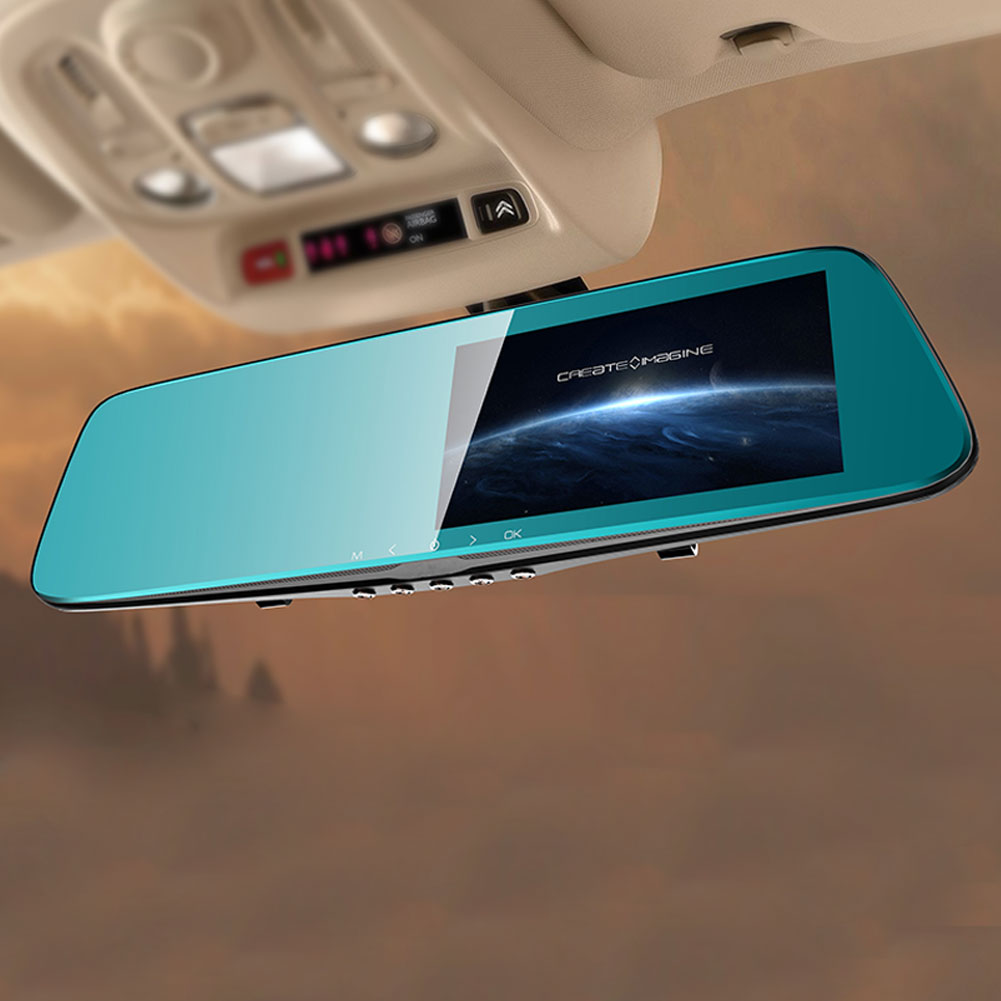 5 Full HD1080p Night Vision Dash Cam Dual Lens Car Auto Camera Rearview Mirror Rear camera5 Full HD1080p Night Vision Dash Cam Dual Lens Car Auto Camera Rearview Mirror Rear camera