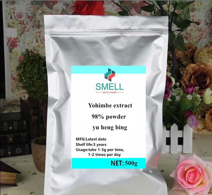 Reliable 500g-1000g High Quality Yohimbe Extract Powder /yu Heng Bin/98% Yohimbines Driving A Roaring Trade Body Glitter