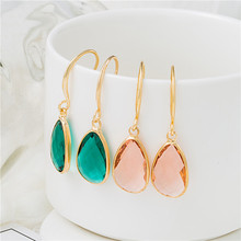 Youga New fashion crystal earrings simple and stylish high-end wedding for women