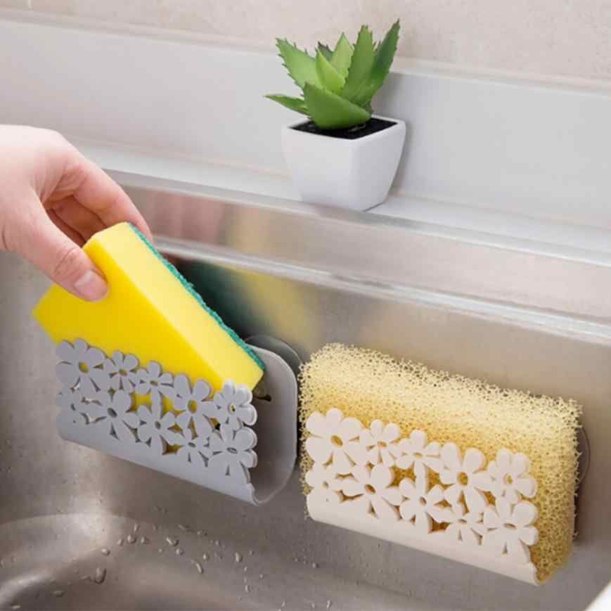Kitchen Bathroom Drying Rack Toilet Sink Suction Sponges Holder Rack Suction Cup Dish Cloths Holder Scrubbers Soap Storage