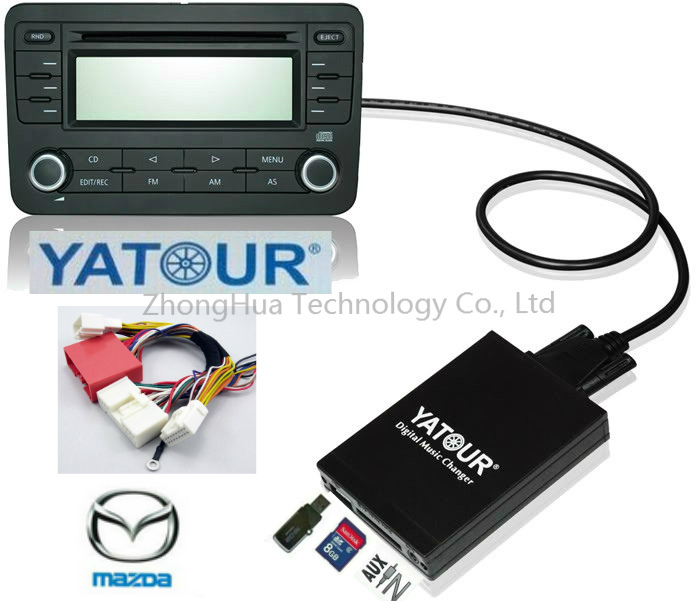 Yatour Digital Music Car Audio USB Stereo Adapter MP3 AUX Bluetooth for New Mazda 3/5/6 2009+ can-bus interface CD Changer yatour digital music car cd changer mp3 usb sd bluetooth aux adapter for honda accord civic crv acura 2004 2011 mp3 interface