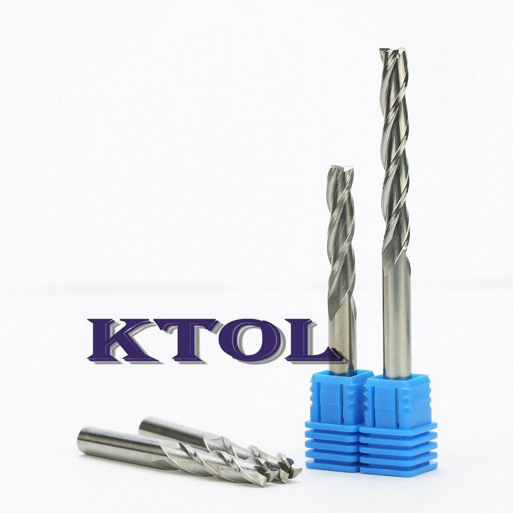 5pcs 6mm shank Single Flute Carbite spiral End Mill Cutter CNC Bit  25mm CEL