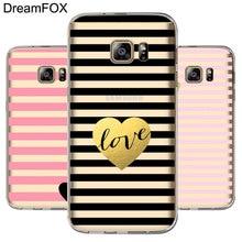 L042 Fashion Love Shape Soft TPU Silicone Case Cover For Samsung Galaxy Note 3 4 5 S5 S6 S7 Edge S8 Plus Grand Prime