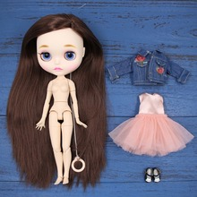 factory Toy blyth doll bjd combination doll with clothes shoes or new face naked doll 1/6 30cm