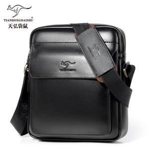 Image 2 - 2020 ใหม่ผู้ชาย Messenger กระเป๋าหนังกระเป๋าสะพายชาย Casual MINI FLAP back Pack Man ธุรกิจ IPAD กระเป๋า Messenger
