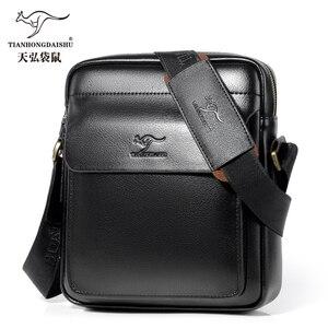 Image 2 - Новинка 2020, мужская сумка мессенджер, мужские маленькие кожаные сумки на плечо, мужская повседневная мини сумка с клапаном, мужские деловые сумки мессенджеры для IPAD