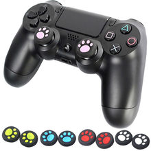 1 Pairs Thumb Stick Caps For Nintend Switch Joy-Con Controller Cat paw Joystick Grips For Nintend NS Switch Gel Guards 2019 @3(China)