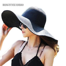 2019 Summer Fashion Floppy Straw Hats Casual Vacation Travel Wide Brimmed Sun Foldable Beach For Women