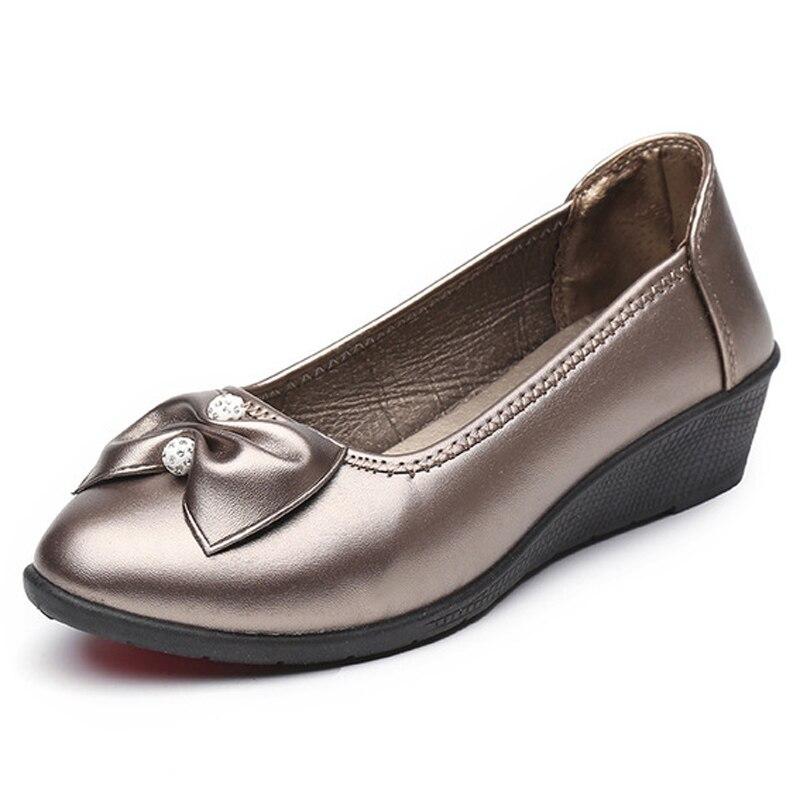 ac69e8e961995b Chaussures red Femme grey À Mocassins Pompes green Black Cuir Mère  Confortables forme Femmes 4 Grand Compensées Plate ...