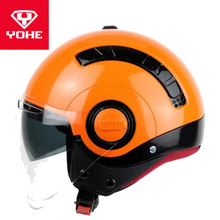 2018 Winter New Safety cap YOHE Double lens Half Face Motorcycle Helmets MINI AB