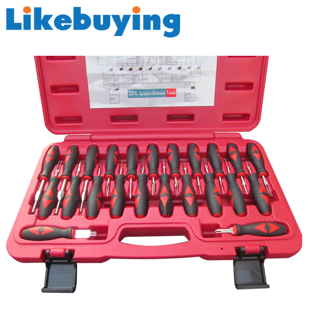 Likebuying Car 23 in 1 Automotive wiring harness terminal removal tools terminal disassembling tool Terminal Release aliexpress com buy likebuying car 23 in 1 automotive wiring  at gsmx.co