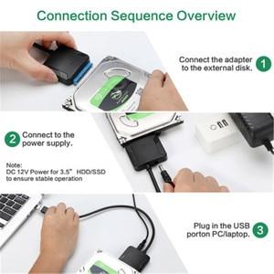 Image 4 - USB3.0 محول محول الكابل 22 دبوس USB 3.0 إلى كابل SATA مع الاتحاد الأوروبي الولايات المتحدة المملكة المتحدة محول ل 2.5 بوصة 3.5 بوصة HDD القرص الصلب SSD
