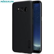 Nillkin матовое щит телефон случаях для samsung galaxy s8 s8 плюс назад крышка для samsung s8 плюс жесткий pc матовый case + screen film