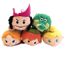 Original TSUM TSUM Peter Pan Tinker Bell Captain Hook Crocodile Mini Stuff Plush Toy Doll Birthday Gift Collection new in box tsum tsum stack n play toy shop original