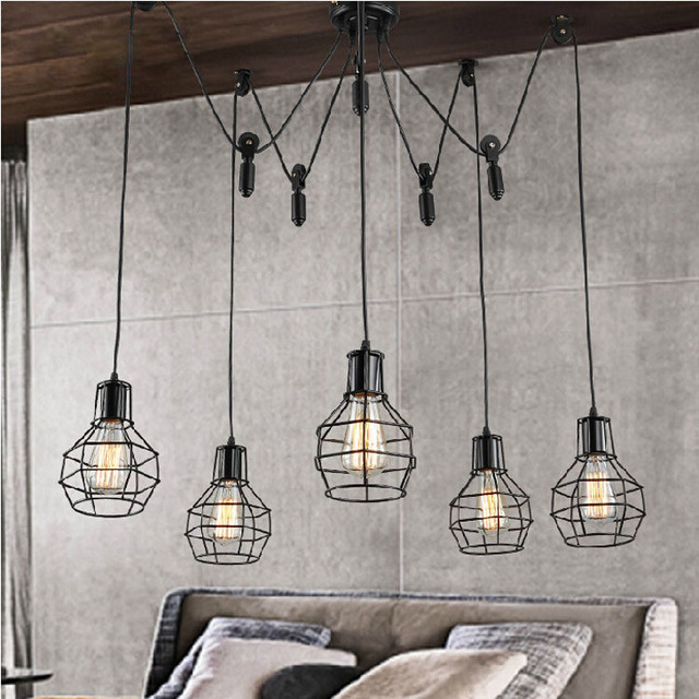 Bar Lamp Decoration: Aliexpress.com : Buy Loft Industrial Style DIY Lifter Iron