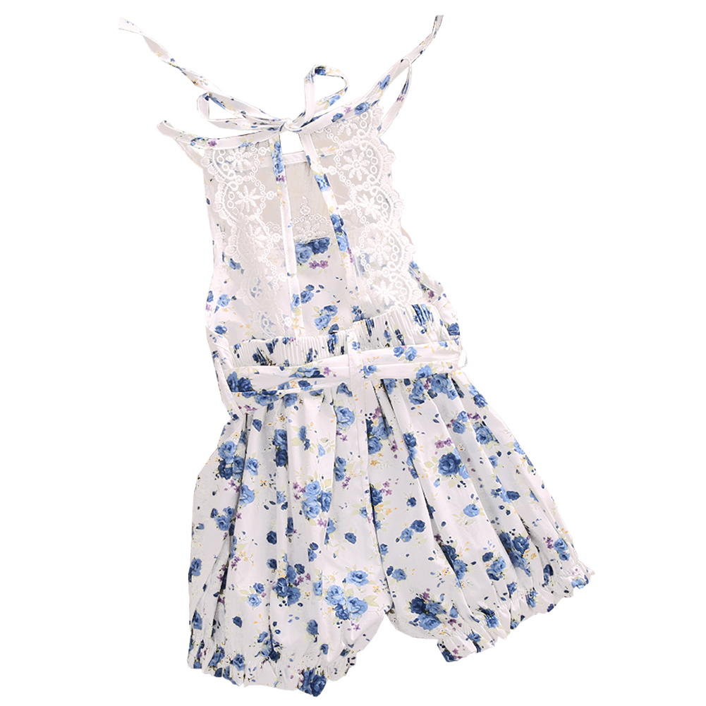 Newborn Baby Girl Lace Floral Romper Jumpsuit Outfits Backless Clothes , 0-3 Months