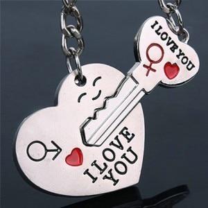 Novelty Casual Couple Tình Yêu Keychain Key Phim Hoạt Hình Những Người Yêu Thích chuỗi vòng Chìa Khóa Phụ Nữ Cưới Trang Sức Phụ Kiện Quà Tặng Valentine