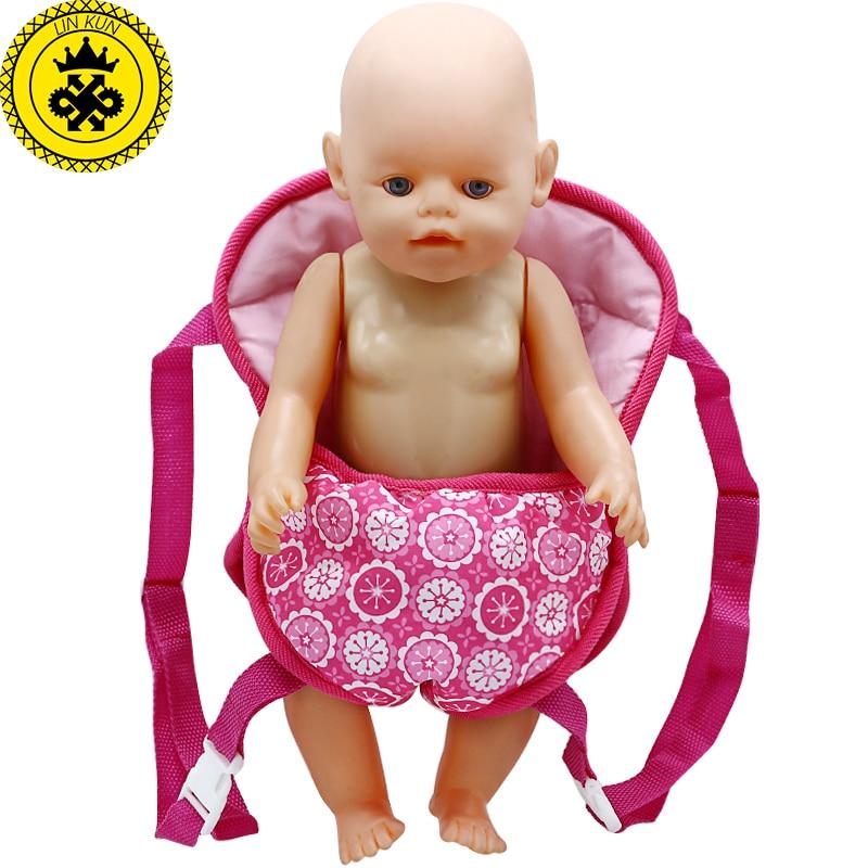Исходящие пакеты открытый переноски куклы ремни подходит для переноски 43 см Baby Born куклы и американская девушка Кукла B-3