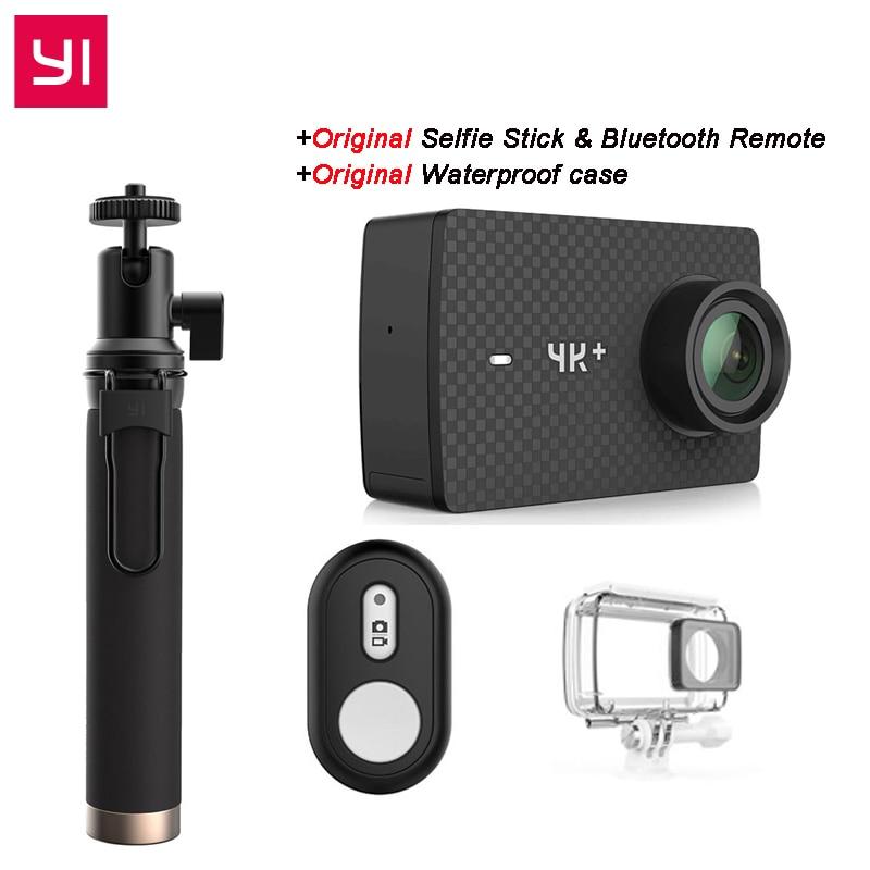 [Édition internationale] YI 4 K Plus Action Caméra 155 Degrés 2.19 4 K/60fps Ambarella H2 Puce EIS USB3.0 4 K + Action Sports Caméra