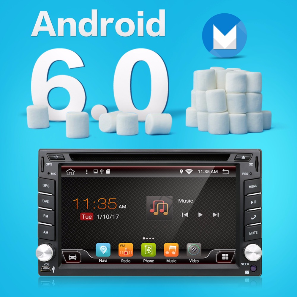 Click here to Buy Now!! New Android 6.0 Quad Core Universal Car Audio  Stereo GPS Navigation Double 2 Din HD Car Radio Multimedia Player