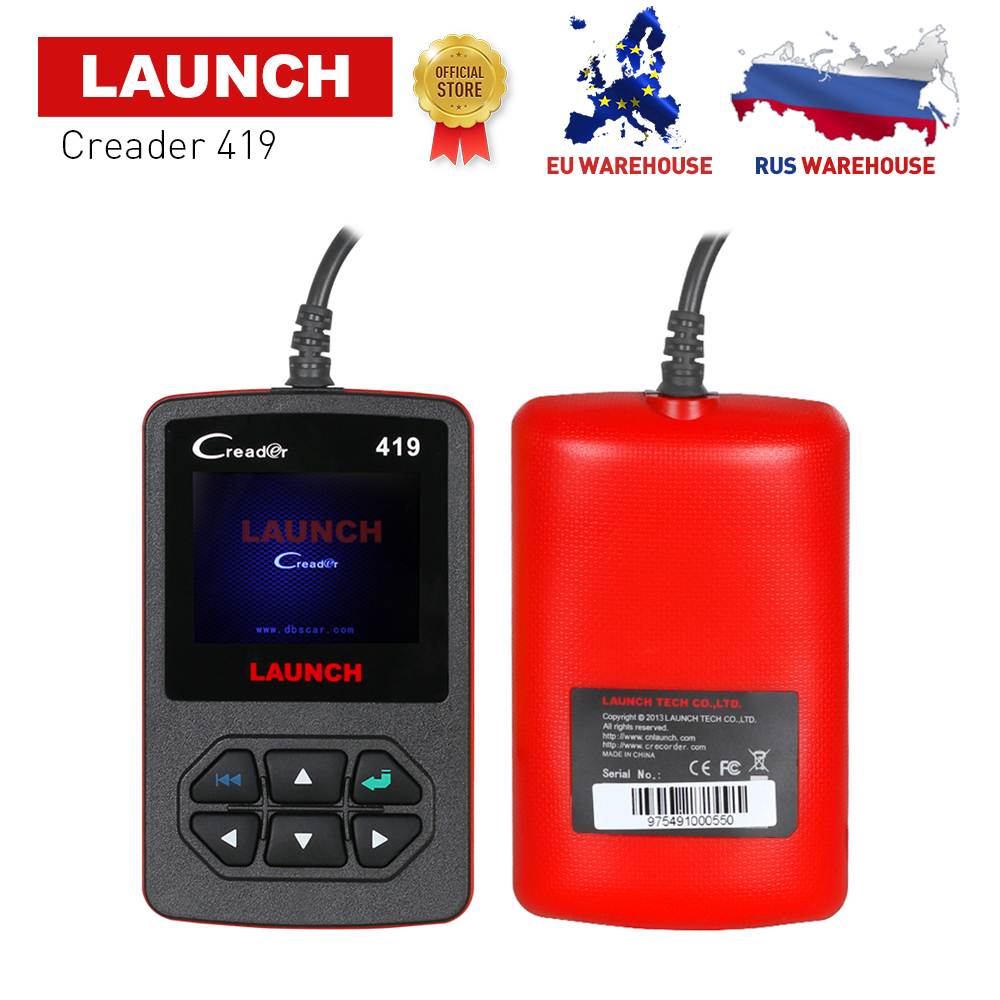 LAUNCH OBD2 Code Reader Launch CReader 419 Diagnostic Scanner with Manufacturer Specific Free Update CR419 same as Creader 4001 launch x431 obd2 automotive diagnostic scanner obd2 bluetooth adpater mdiag elm327 update online enhanced code reader