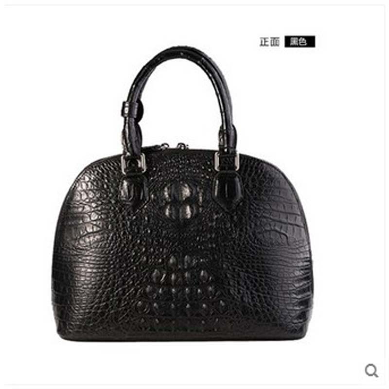 yongliang New crocodile skin ladies handbag crocodile eather shells large capacity leisure fashion women bags yuanyu 2018 new hot free shipping real python skin snake skin color women handbag elegant color serpentine fashion leather bag