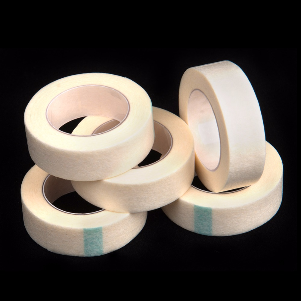 5 Pieces Micropore Surgical Tape Thin and Soft Best Quality Tape for Eyelash Extensions Tools Gentel On Skin