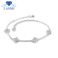 18k White Gold Diamond Bracelet SI Clarity G H Color For Wedding Party NA0030