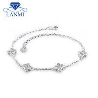 18k Gold Diamond Engagment Bracelets SI Clarity G H Color Diamond Bracelet Womens Wedding Wholesale Jewelry Lovelry Gift NA0030