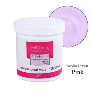 Image 4 - 75g de polvo acrílico blanco rosa claro para uñas, polvo de cristal acrílico 3D, polímero de extensión de puntas para construcción de uñas CH789