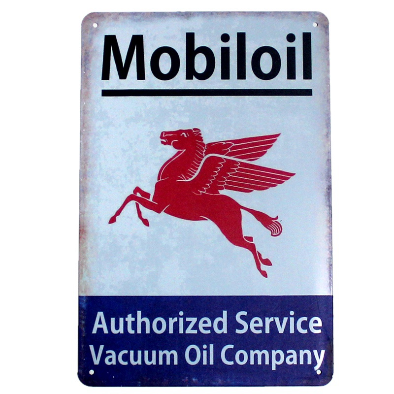 Mobil oil Authorized service vacuum oil company! metal signs vintage tin plate the wall decoration for bar home cafe garage