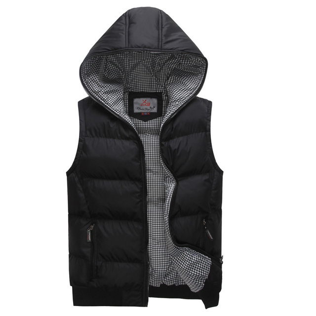 New fall and winter clothes Korean men's hooded cotton Waistcoat men vest Fashion Brand Design Men sleeveless Outerwear & Coats