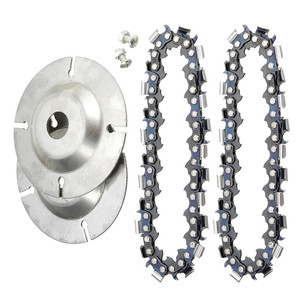 Image 5 - 4 inch Wood Carving Disc Cut Chain 22 Tooth Grinder Disc Fine Chainsaw Set w/ 2 Chains for 100/115 Angle Grinder Wooking Tools