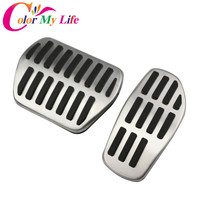Color My Life AT Car Fuel Gas Pedals Brake Pedal Cover For Nissan X Trail Xtrail