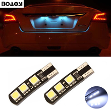 BOAOSI 2x T10 LED W5W Samsung 5050 SMD Car License plate Light Bulbs For Opel Adam Corsa C Corsa C Combo Corsa D Astra H