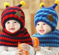 Fashion Winter Crochet Children Hat Neck Warmer Wrap Scarf Beanie For Kids Hats Cute Fox Crochet