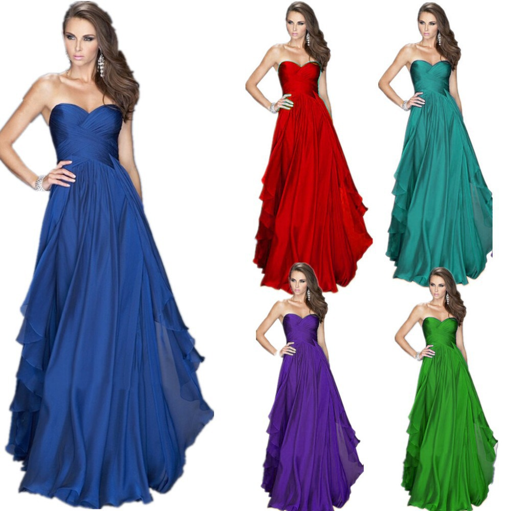 Zl0089 royal blue emerald green chiffon dress bridesmaid for Emerald green dress wedding guest