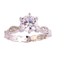 Dazzling White Topaz 2015 New Arrival Popular Free Shipping 925 Silver Ring Wedding Jewelry For Women Size 6 7 8 9 10 Wholesale
