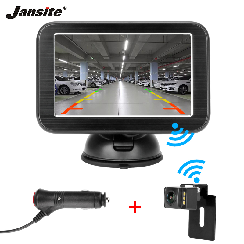 Jansite 5 Wireless HD Digital Car Monitor TFT LCD Car Rear View monitor Parking Rearview System
