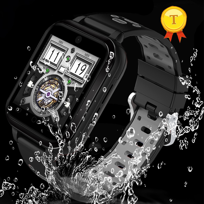 2018 Waterproof IP67 4G sim card bluetooth Smart watch 1.54 inch color screen Smart Watch Quad Core GPS heart rate Watch Phone 1 6 screen stainless steel bluetooth 3 0 sim camera hd dv recording pedometer 4g memory smart watch phone security msn p20