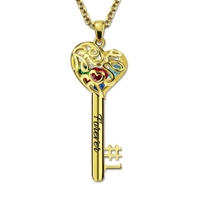 Personalized no1 mom heart cage key pendant necklace birthstones personalized no1 mom heart cage key pendant necklace birthstones customized engraved necklace best gift mozeypictures Choice Image
