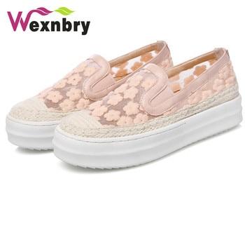 2016 wexnbry shoes women casual shoes fashion shoes woman lace zapatillas deportivas casual  shoes 43 big size